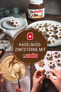 Haselnuss-Zimtsterne mit nutella Discover now the whole recipe and many more delicious baking ideas www.de Related posts: Peanut Butter Thumbprint Cookies with Nutella Hazelnut Spread Nutella cinnamon slices Baking Recipes, Cookie Recipes, Dessert Recipes, Baking Ideas, Sweet Recipes, Whole Food Recipes, Bon Dessert, Food Cakes, Christmas Baking