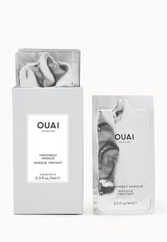 OUAI Treatment Masque $32.00 - A restorative healing mask that's formulated to repair damage in minutes, leaving strands incredibly soft and smooth after just one treatment. Made with Artichoke Leaf Extract to seal the cuticle and protect hair from future damage. Free of parabens. No animal testing. #OUAIaddicted