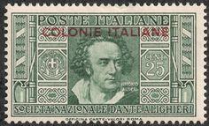 "Italian Colonies  1932 Scott 4 25c dark green ""Vittorio Alfieri"" Dramatist, the Founder of Italian Tragedy"