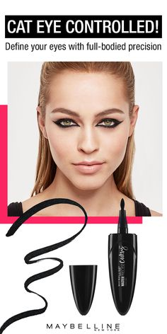 Looking for an easy way to achieve a sleek cat eye? With its innovative grip and patented, precise tip, Maybelline's Master Precise Curvy has you covered through thick and thin.