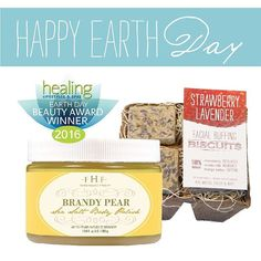 We're honored this #EarthDay! At The Ranch we love helping our planet (and animals!) any way we can...our Brandy Pear Sea Salt Scrub and Strawberry Lavender Facial Buffing Biscuits have been selected as @healinglifestyles Earth Day #Beauty Award Winners! Both are gluten and phthalate free - polishing your skin with earth lovin' goodness! #bekindtoourplanet