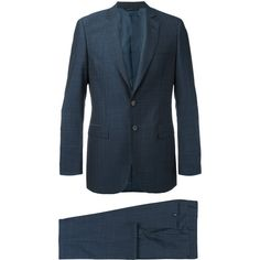 Tonello Classic Two Piece Suit ($711) ❤ liked on Polyvore featuring men's fashion, men's clothing, men's suits, men's 2 piece suits, mens blue suit, mens two piece suits, mens blue slim fit suit and mens slim fit suits