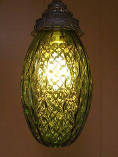 I love vintage swag lamps!