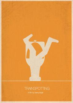 Trainspotting (1996) ~ Minimal Movie Poster by  Masse Hjeltman #amusementphile