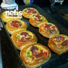 Pastane Usulü Mini Pizza(Yumuşacık)