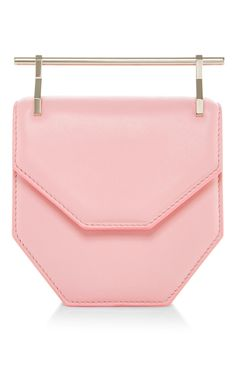 Mini Amor Fati Calf Leather Bag In Pink by M2MALLETIER Now Available on Moda Operandi