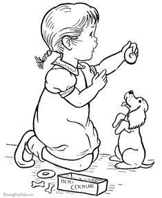 cute coloring picture of a dog 019 - Kid Coloring Pictures