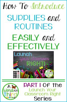 How To Introduce Supplies and Routines Easily And Effectively - by A Word On Third