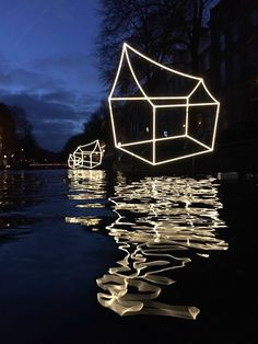 "Artwork ""welcome to my Home town"" by team Lighting Design Academy  Amsterdam Light Festival 2016-2017"