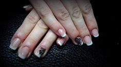 """14 """"Μου αρέσει!"""", 1 σχόλια - Dimitra Gkouzou (@dimitra.gkouzou) στο Instagram: """"#nailart #acrylicnails #frenchnails #frenchnailart #nailtech #nailsart #bittennails #frenchnailart"""""""
