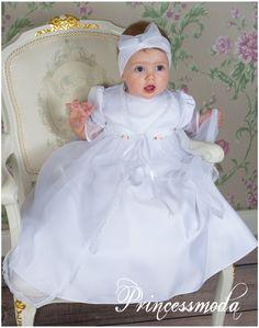 ♥ DIANA ♥ SEHR LANGES Taufkleid inkl. MANTEL Gr.62-68-74 bei Princessmoda
