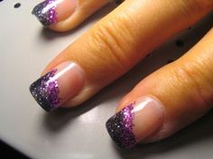 glitter, glitter glitter! easy strips using two tones of glitter and coat with clear
