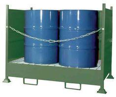 CUBETOS CON LATERALES. VD4. Las unidades para almacenar en vertical tienen una cadena frontal para poder manipular el cubeto cargado.