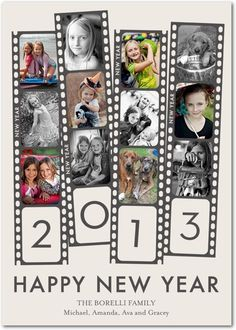 Cute holiday card - Film Fun by Tiny Prints
