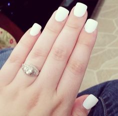 White acrylic nails! Perfect for all year 'round!