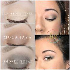 Sandstone Pearl Moca Java smoked topaz ShadowSense eye look My Beauty, Beauty Makeup, Beauty Hacks, Beauty Tips, Senegence Makeup, Senegence Products, Lip Sence, Shadow Sense, Diy Makeup