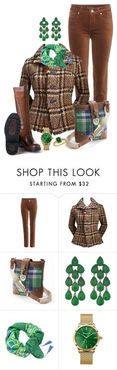 """green e browm"" by daianetavares310 ❤ liked on Polyvore featuring Loro Piana, Junya Watanabe Comme des Garçons, DUBARRY, Chaps, Siman Tu, Thomas Sabo and Lord & Taylor"
