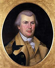 Nathanael Greene (August 7 [O.S. July 27] 1742 – June 19, 1786, frequently misspelled Nathaniel) was a major general of the Continental Army in the American Revolutionary War. When the war began, Greene was a militia private, the lowest rank possible; he emerged from the war with a reputation as George Washington's most gifted and dependable officer. Many places in the United States are named for him. Greene suffered financial difficulties in the post-war years and died suddenly of sunstroke…
