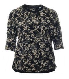 www.zimano.de halbarm-shirt-damen-schwarz-mit-blumen-grosse-groessen a-433577