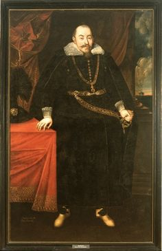 Lietuvos didžiojo kunigaikščio ir Lenkijos karaliaus Žygimanto Vazos (1566–1632) portretas, XVII a. Muziejus rūmai Vilanove. / Portrait of Grand Duke of Lithuania and King of Poland Sigismund Vasa (1566–1632), 17th c. Palace in Wilanów.