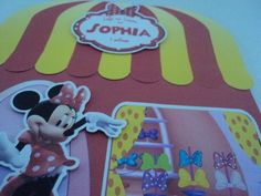 Convite 3D Luxo Loja de Laços de Minnie | Personalize Artes e Convites | Elo7