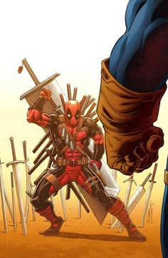 """Deadpool could easily beat the My Hero Academia universe. He could do it before you could say """"Chimichanga"""" - Deadpool could easily beat the My Hero Academia universe. He could do it before you could say """"Chimichanga"""" - iFunny :) Ms Marvel, Marvel Comics, Marvel Heroes, Marvel Characters, Aquaman Comics, Captain Marvel, Deadpool Vs Thanos, Art Deadpool, Comic Book Covers"""