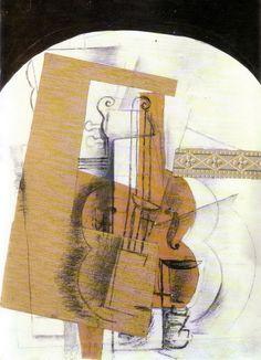 Georges Braque, Violon, 1914