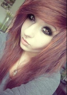 I wish I was scene <3 I have stupid thin blonde hair that im not allowed to dye -_-