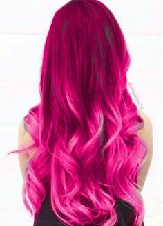 Pin by Lindsay Ward on Hair ideas in 2019 Funky Hair Colors, Pretty Hair Color, Different Hair Colors, Beautiful Hair Color, Hair Dye Colors, Pink Hair Streaks, Magenta Hair, Aesthetic Hair, Bright Hair