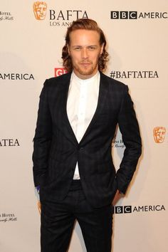 Sam Heughan (Jamie Fraser of Outlander) #BAFTATea Party 2016