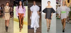 Looks from L-R: Burberry, Marques'Almeida, Simone Rocha, David Koma and Ashley Williams. Photos: Imaxtree