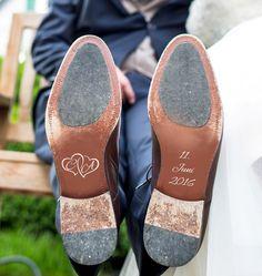 Bräutigam - Aufkleber Brautschuh Hochzeit Geschenk - ein Designerstück von Lieblingsprint bei DaWanda