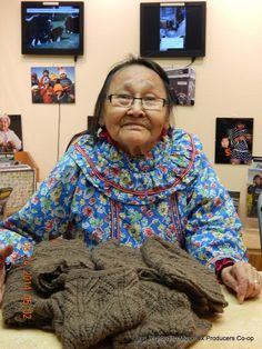 Verna is one of your Mekoryuk knitters and has been with the Co-op since 1975.