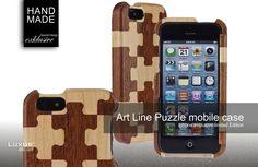 Art-Line ein exklusives Luxus Mobile Holz-Case im Puzzle Format für Smartphones der besonderen Art. Das Ergebnis ein extravagantes Lifestyle der Superlative
