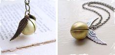 $10 Golden Snitch Necklace at VeryJane.com Harry Potter fans! For you @Katie Abernathy Hoyos
