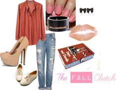 """""""The Fall Book Clutch"""" by ruby-findley on Polyvore"""