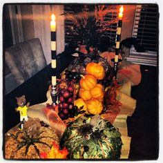 Fall Halloween decor