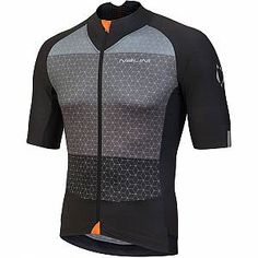 Buy Nalini Stelvio Short Sleeve Jersey - Black/Grey here at ProBikeKit USA. Online Bike Store, Mesh Fabric, Put On, Sport Outfits, Nike Jacket, Looks Great, Black And Grey, Short Sleeves, Pure Products
