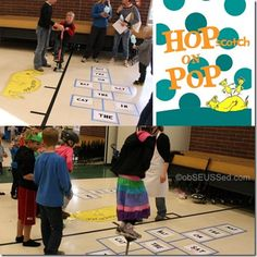 Seuss Carnival Hopscotch Hop on Pop obSEUSSed
