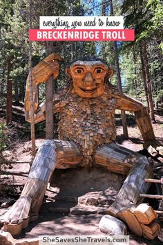Planning a trip to Breckenridge? Here's a guide on everything you need to know about the Breckenridge Troll. Where to park, how to hike to the troll in Colorado, and more! | Breckenridge Colorado | Breckenridge Troll | What to See in Breckenridge
