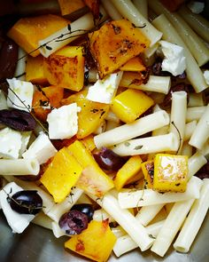 Pasta with Roast Butternut Squash, Feta and Black Olives — Kitchen Repertoire