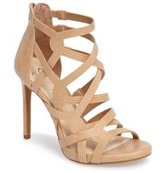 On SALE at 51% OFF! rainah sandal by Jessica Simpson. Cord-embossed cage straps corset your foot in a sky-high sandal lifted by a setback stiletto heel.