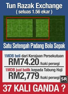 """The reason why Malaysians especially Muslims were pissed off with TH - 1MDB Bailout. 1MDB buy lot at RM 74.20/sq ft. Sell back to TH for RM 2779/sq ft. The 4 BODs & CEO are BN appointed people with both position in 1MDB & TH. They used pilgrimage depositers' money without informing firsthand or ask for permission. Najib keep justifying """"good investment"""". Show us the Return on Investment (ROI) &  figures. Dont mess with peoples money. Najib, you will be hold accountable in this life…"""