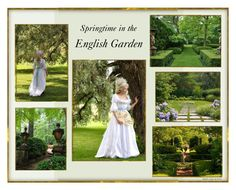 """""""Springtime in the English Garden"""" by veronababy ❤ liked on Polyvore featuring art"""