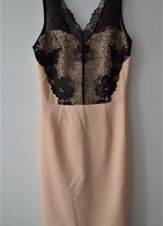 Kup mój przedmiot na #vintedpl http://www.vinted.pl/damska-odziez/imprezowe-slash-koktajlowe/20368664-elegancka-bezowa-sukienka-olowkowa-z-koronkowym-wykonczeniem-new-look-rozm-10