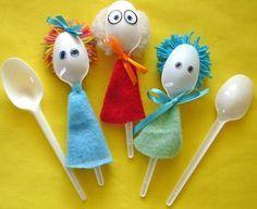 Ideia para usar como personagens ao contar a história da Lição ou na Adoração Infantil