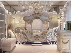 Ummm where was this when I was growing up? Bedroom fit for a princess by – dekorasyon Cute Room Ideas, Cute Room Decor, Baby Decor, Kids Decor, Bedroom Decor For Teen Girls, Girl Bedroom Designs, Kids Bedroom, Grown Up Bedroom, Creative Kids Rooms