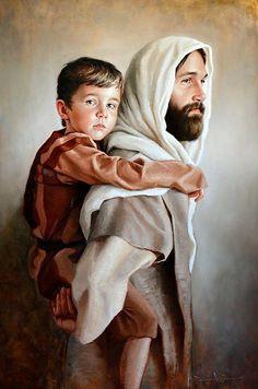 Joseph and Jesus❤ Pictures Of Jesus Christ, Jesus Christ Images, Jesus Art, Lds Art, Bible Art, Catholic Art, Catholic Saints, Religious Images, Religious Art