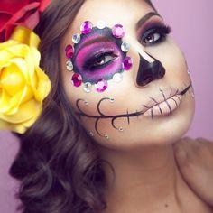 Sugar skull face paint. idea