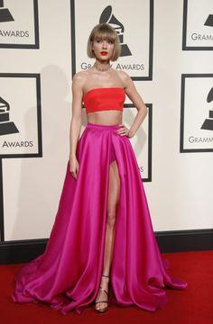 Taylor Swif en los Grammys 2016.